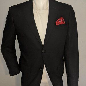 Protno Uomo Black Sport Coat 38R Excellent Cond